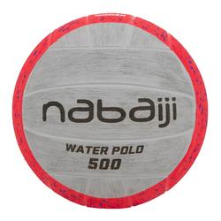 BALLON WATER POLO 500 TAILLE 4 ROSE GRIS