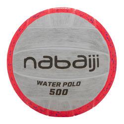 Balón Waterpolo 500 Rosa Gris Tamaño 4