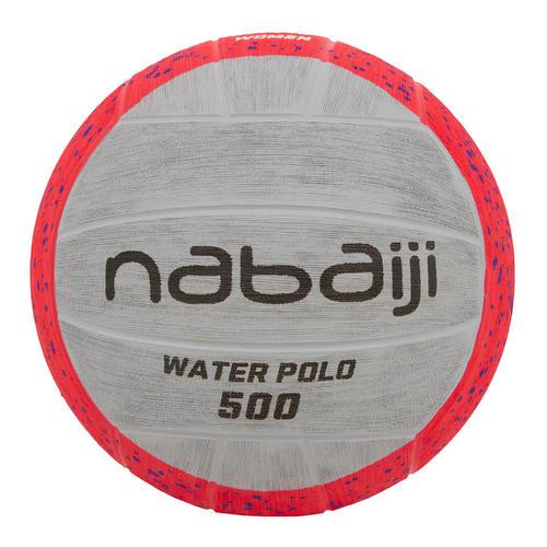 BALLON WATER POLO 500 TAILLE 4 ROSE GRIS