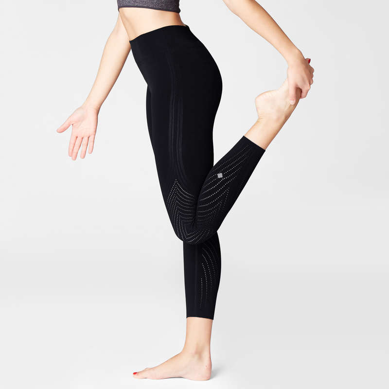 WOMAN YOGA APPAREL Fitness and Gym - Second Skin Tech Yoga Leggings DOMYOS - Gym Activewear