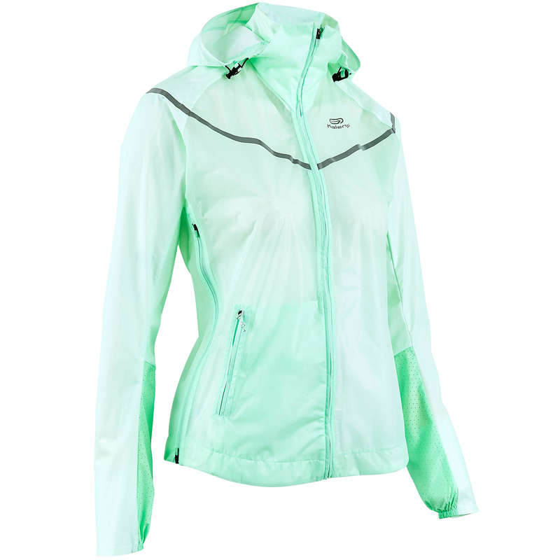WOMAN RAINY/WINDY WEATHER RUN CLOTHES Clothing - WOMEN'S SHOWERPROOF JACKET KIPRUN - Tops