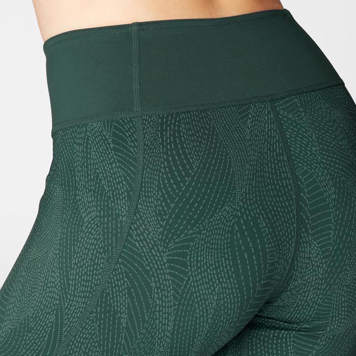 Leggings zum Wenden Yoga Damen dunkelgrün