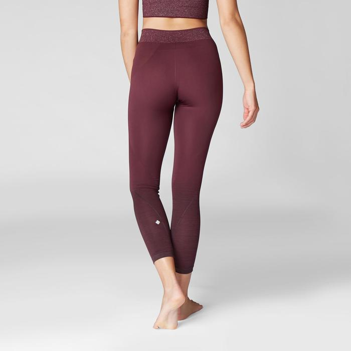 7/8-Leggings Yoga nahtlos bordeaux