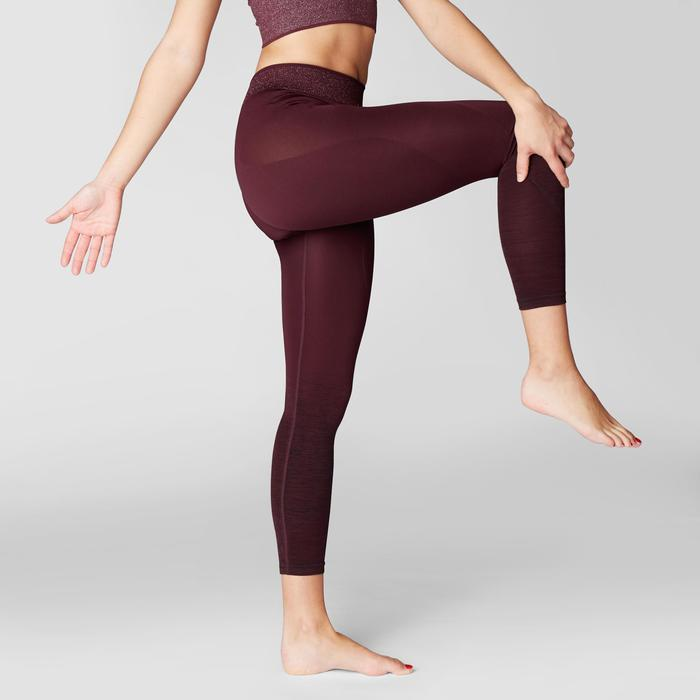 LEGGING 7/8 YOGA SANS COUTURES BORDEAUX