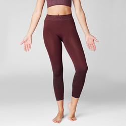Naadloze 7/8-legging yoga bordeaux