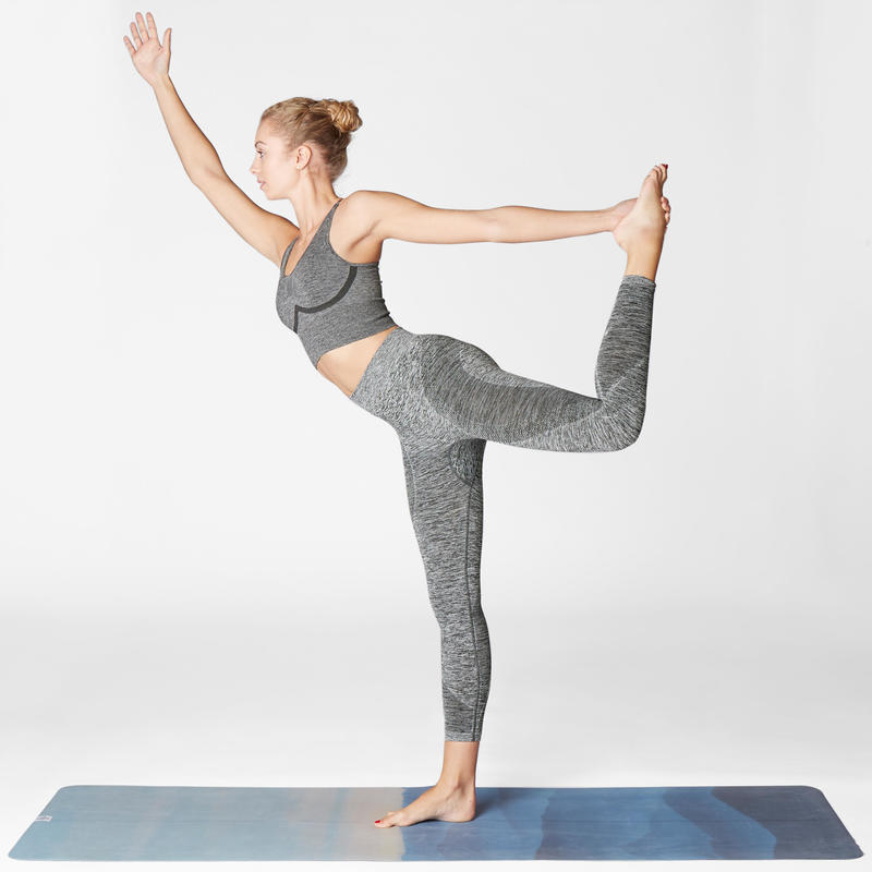 Seamless 7/8 Yoga Leggings - Mottled Grey