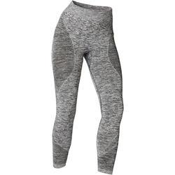 Naadloze 7/8-legging yoga gemêleerd grijs