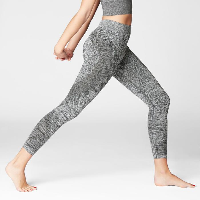 LEGGING 7/8 YOGA SANS COUTURES GRIS CHINE