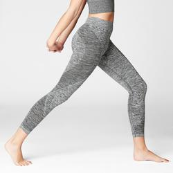 LEGGINGS 7/8 YOGA SIN COSTURAS GRIS JASPEADO