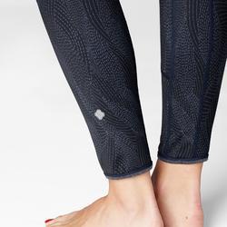 雙面動態瑜珈緊身褲 - 海軍藍/藍色印花