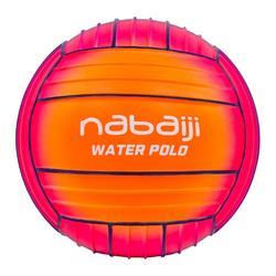 Large orange blue pool ball