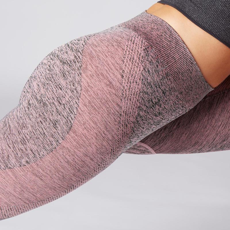 Seamless 7/8 Yoga Leggings - Dusty Pink