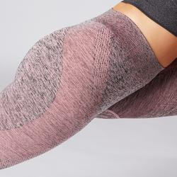 Naadloze 7/8-legging yoga oudroze