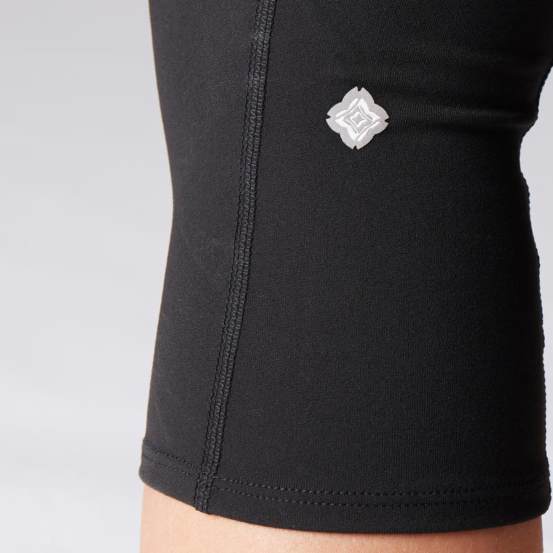 Dynamic Yoga Cropped Bottoms - Black