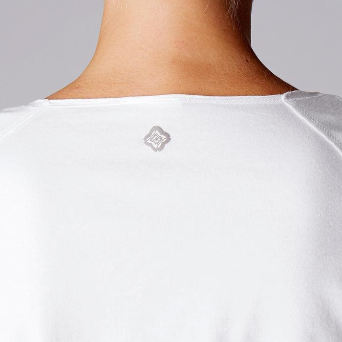 Dames T-shirt in biokatoen voor zachte yoga wit