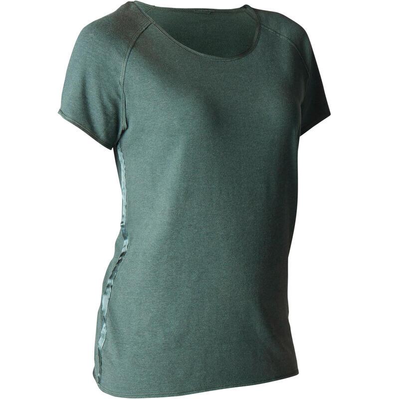 Women's Organic Cotton Gentle Yoga T-Shirt - Dark Green