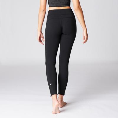 טייץ אוורירי לנשים Yoga+ - שחור