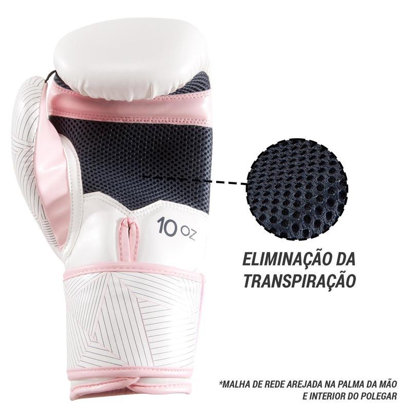 luvas de boxe 300 branco rosa 6c04012ada19a