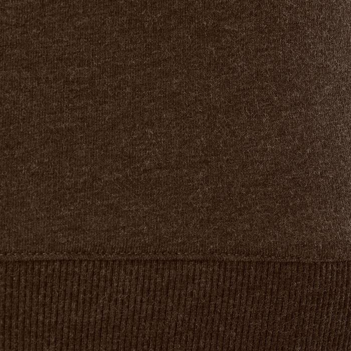Sweatshirt 500 Gym Stretching Damen kaki meliert