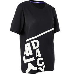09eee8c76 Camiseta Danza Urbana Domyos Mujer Negro Amplia Manga Corta