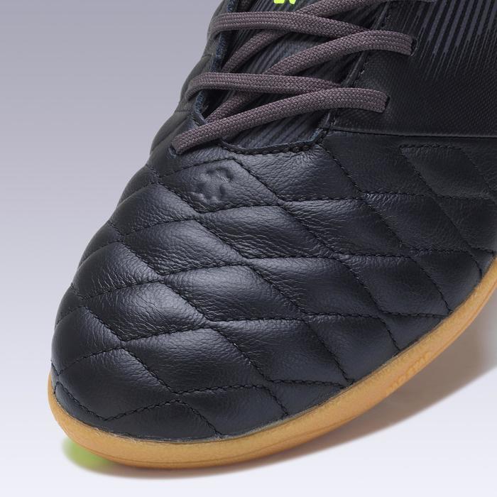Zaalvoetbalschoenen Agility 700 leer zwart