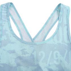 女款交叉訓練背心-藍色