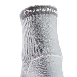 Calcetines de senderismo naturaleza NH500 Largos gris rosa x 2 pares