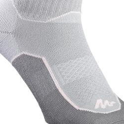 Sokken voor wandelen in de natuur - NH500 high - grijs roze 2 paar