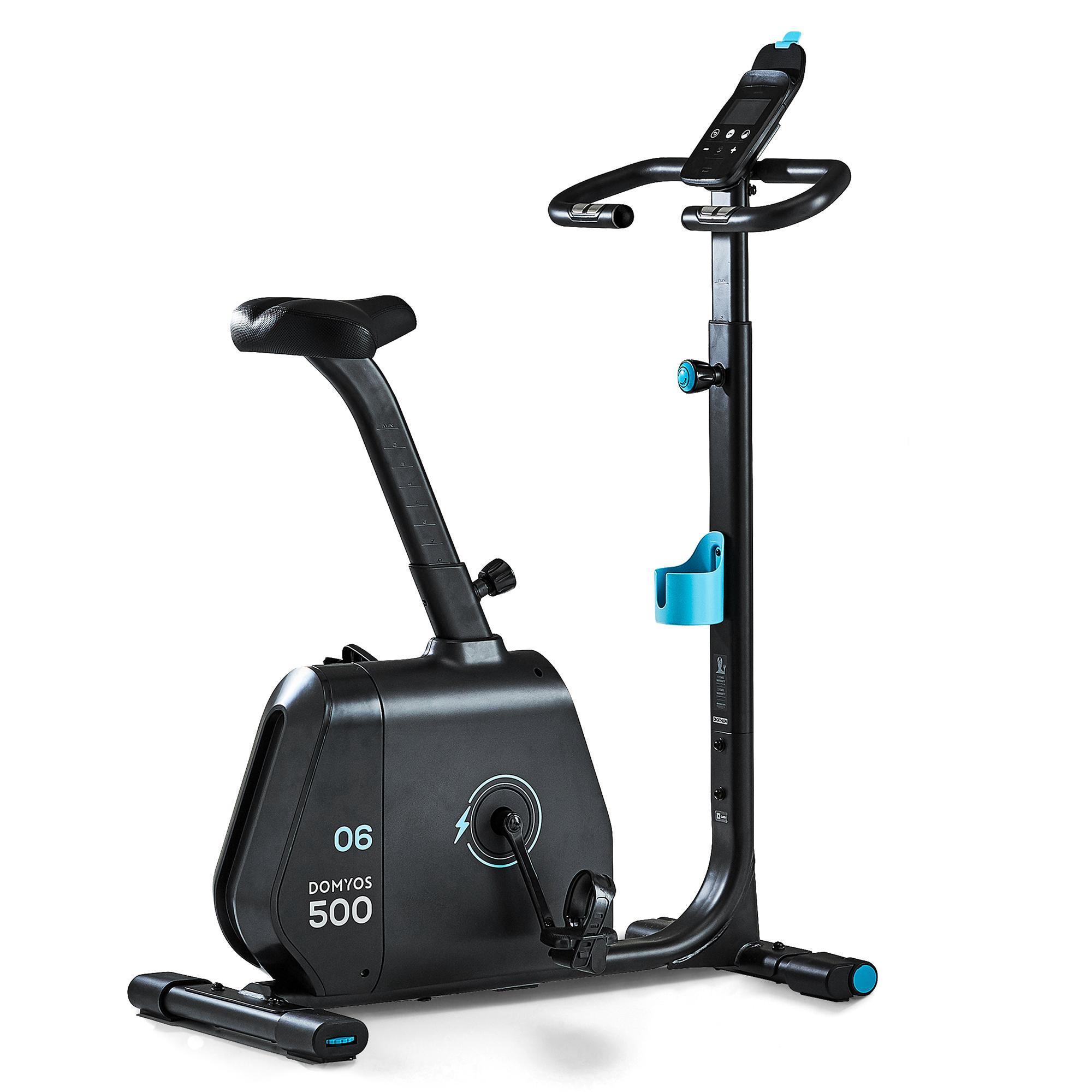 Domyos Hometrainer Bike 500, draadloos, vliegwiel van 6kg