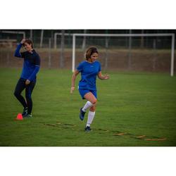Short de football femme F100 bleu
