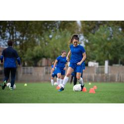 Voetbalshort dames F100 blauw