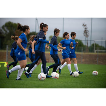 Trainingshose T500 Damen blau