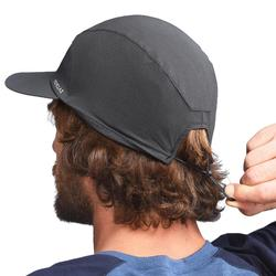 Ventilated and ultra-compact mountain trekking cap - TREK 500 - Dark grey