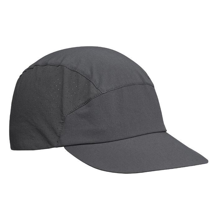 登山健行透氣帽Trek 500 - 深灰色