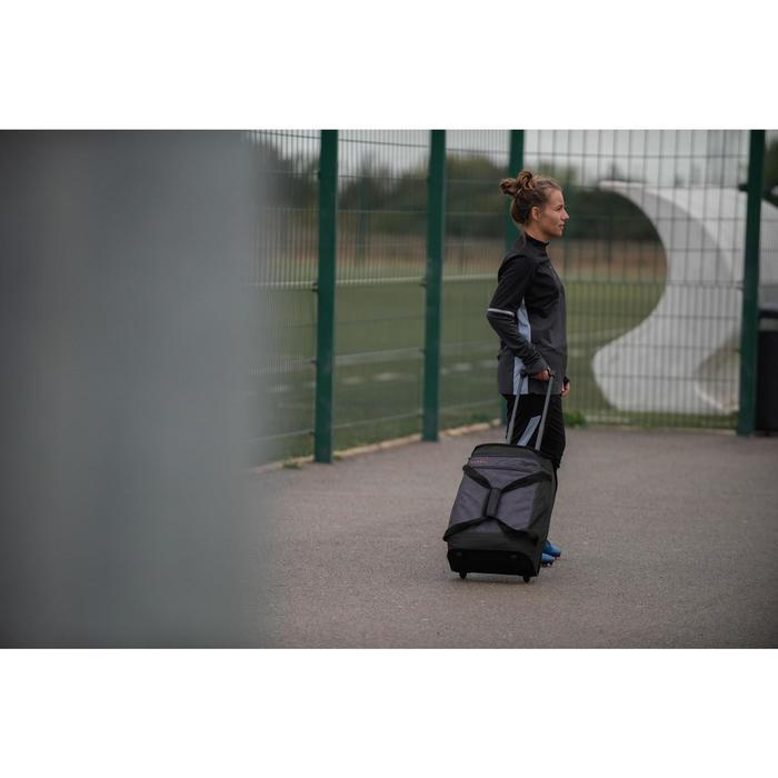 女款足球訓練運動衫T500-黑色