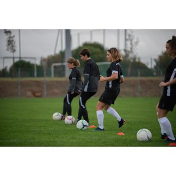 Trainingsjack voetbal T500 voor dames zwart
