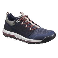 Zapatillas de MONTAÑA Y SENDERISMO naturaleza NH500 azul marino mujer