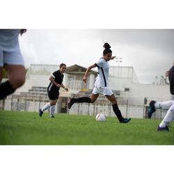 Fußballtrikot F500 Damen weiß/schwarz