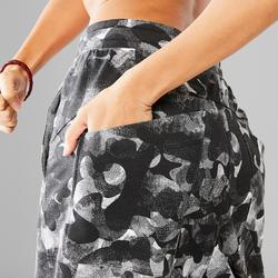Pantalon carrot danse urbaine blanc femme