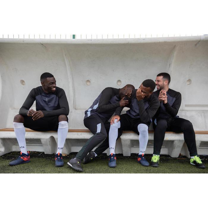 Voetbalbroek voor volwassenen T500 zwart/carbongrijs