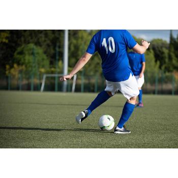 成人款足球短袖上衣F100-藍色