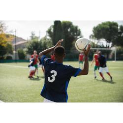 成人款足球上衣F500-軍藍色