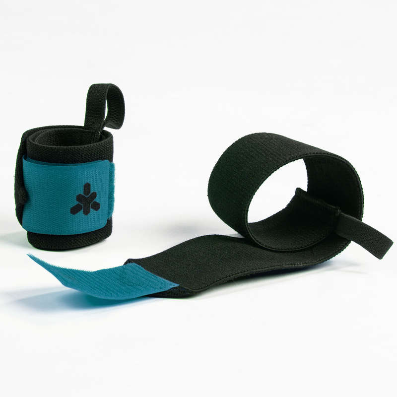 GLOVES, BELTS, APPAREL Fitness and Gym - Wrist Wrap - Blue DOMYOS - Fitness and Gym