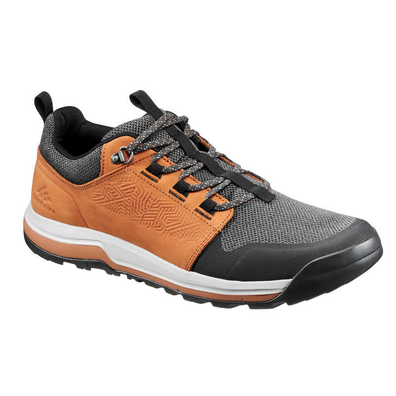 MEN NATURE HIKING SHOES Hiking - Shoes NH500 - Brown QUECHUA - Outdoor Shoes