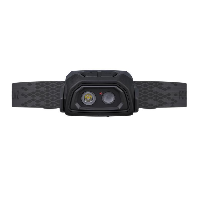 Linterna frontal recargable USB trekking TREK500 negra - 200 lúmenes