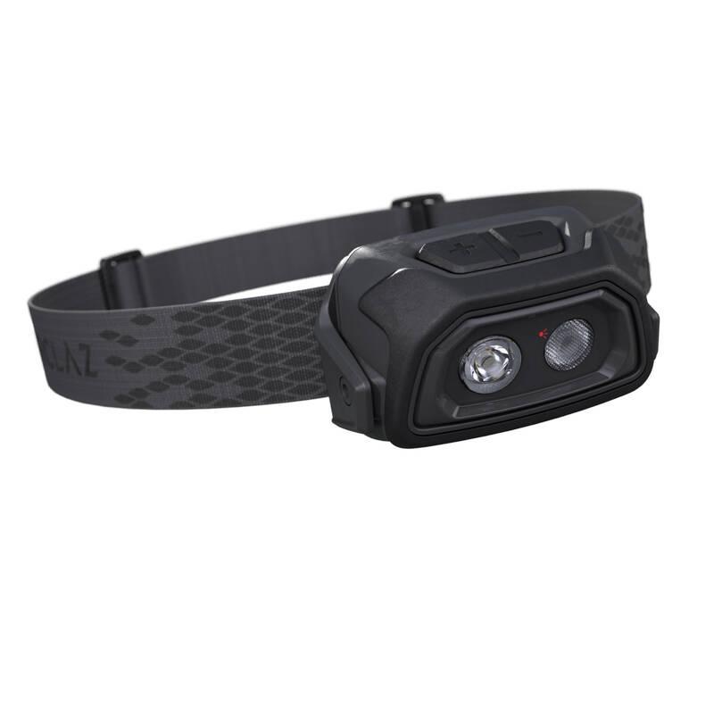 Čelové lampy - ČELOVKA TREK 500 USB ČIERNA FORCLAZ