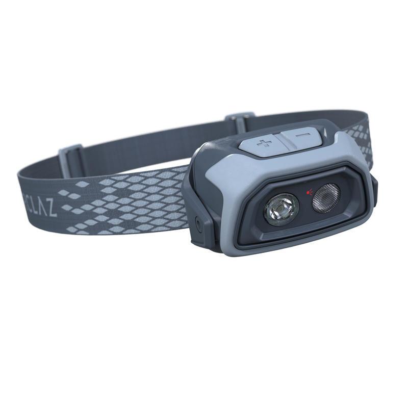 Rechargeable trekking head torch - TREK 500 USB - 200 lumens - Blue
