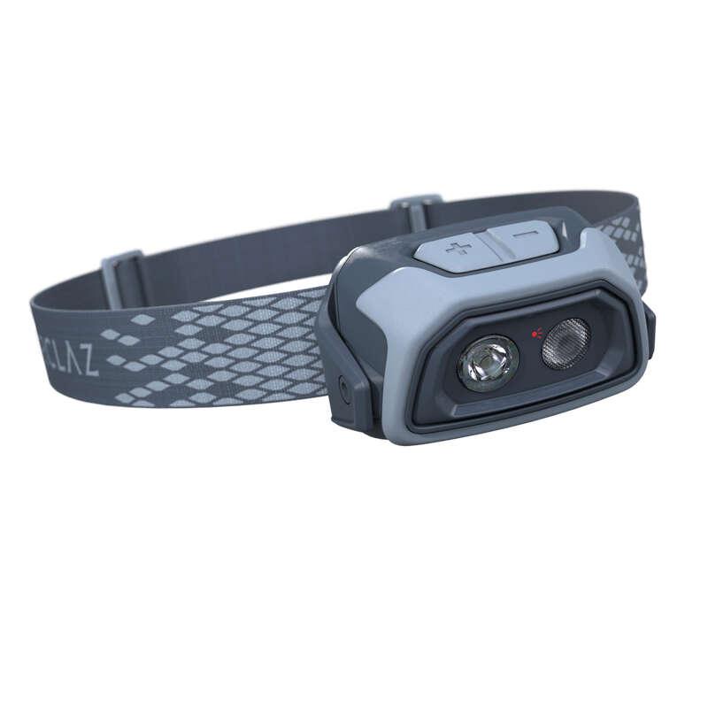 LAMPADE FRONTALI Sport di Montagna - Lampada frontale TREK500 USB FORCLAZ - Materiale Trekking