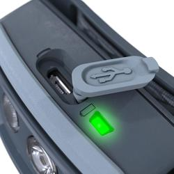 Trekking Head Torch 200 Lumens Rechargeable USB Trek 500 - Blue