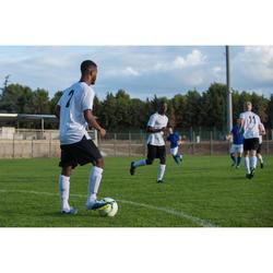 Medias de fútbol adulto F100 blanco